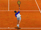 Clay Tennis Game Court