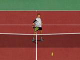 Indoor Hard Tennis Game Court