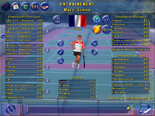 Entraînement de tennis