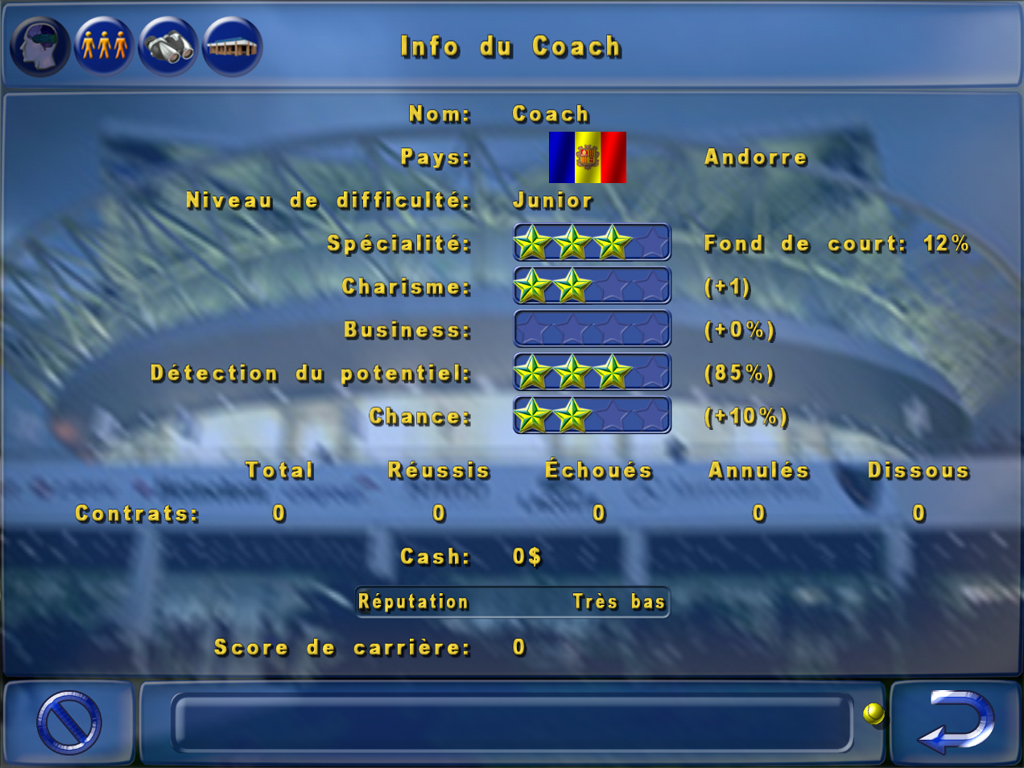 Jeu de Management de Tennis